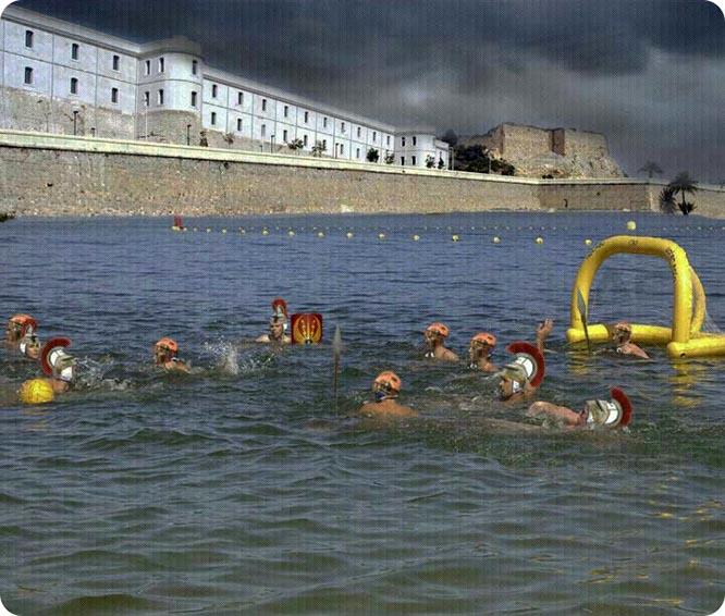 La Batalla tuvo que ser acuática