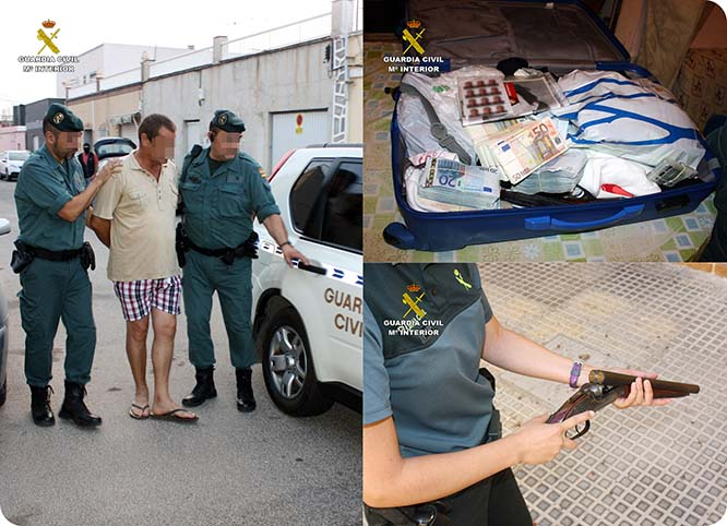 La Guardia Civil detiene en Cartagena a un experimentado atracador de bancos